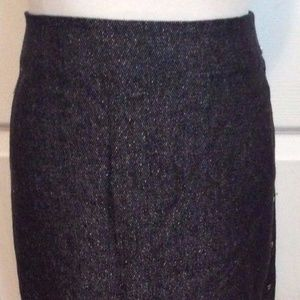 SALE! MAG Magaschoni Skirt 6 Black Silver Straight